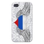 Amo la Federación Rusa - alas iPhone 4 Funda