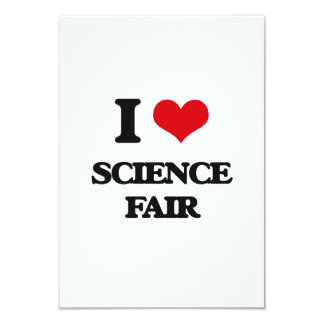 Amo la feria de ciencia invitación 8,9 x 12,7 cm