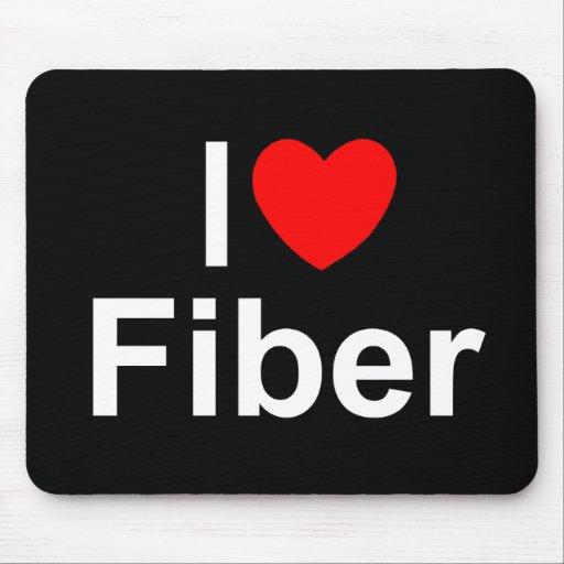Amo la fibra (del corazón) alfombrilla de ratones