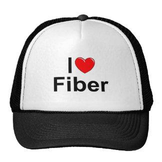 Amo la fibra (del corazón) gorros