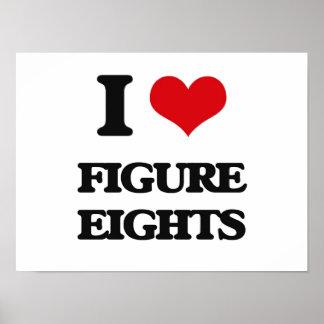 Amo la figura Eights Impresiones