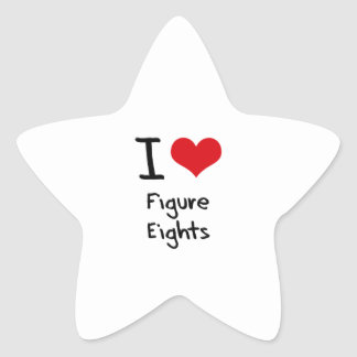 Amo la figura Eights Colcomanias Forma De Estrella