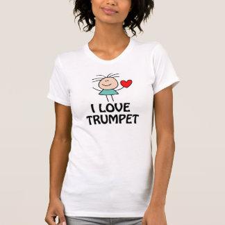 Amo la figura regalo del palillo de la trompeta de camiseta