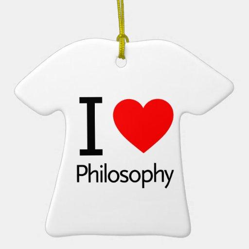 Amo la filosofía adorno de reyes