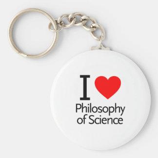 Amo la filosofía de la ciencia llavero personalizado