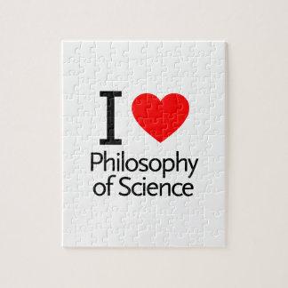 Amo la filosofía de la ciencia rompecabeza con fotos