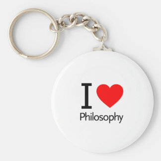 Amo la filosofía llaveros personalizados