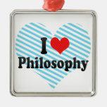 Amo la filosofía ornamento para arbol de navidad