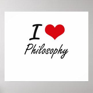 Amo la filosofía póster