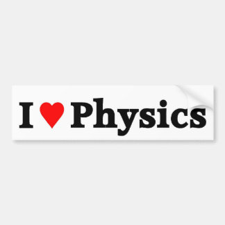 Amo la física pegatina para auto