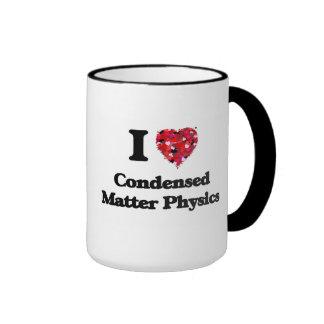 Amo la física condensada de la materia taza a dos colores