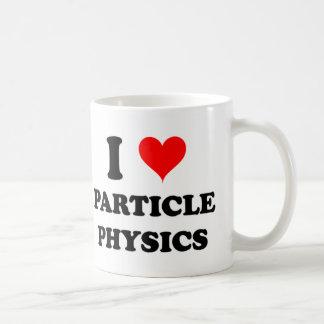 Amo la física de partícula taza