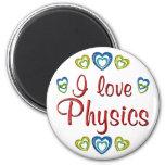 Amo la física imán de nevera
