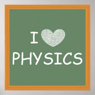 Amo la física impresiones