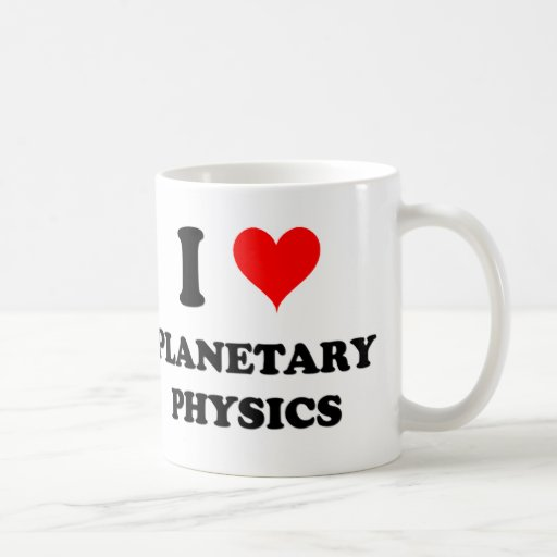 Amo la física planetaria taza de café