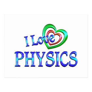 Amo la física tarjeta postal