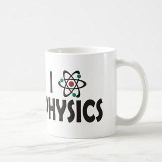 Amo la física taza