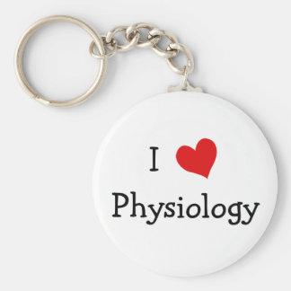 Amo la fisiología llavero redondo tipo pin