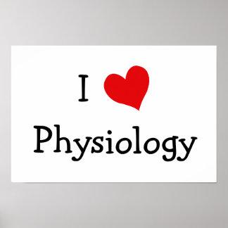 Amo la fisiología póster