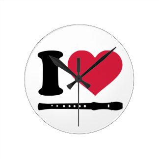 Amo la flauta relojes
