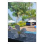 Amo la flor del Usted-Fijian Tarjeta De Felicitación