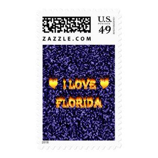 Amo la Florida con el fondo de mármol azul Franqueo