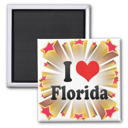 Amo la Florida Imán Cuadrado