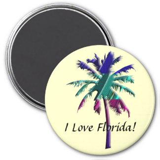 ¡Amo la Florida! Imán Redondo 7 Cm
