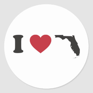 Amo la Florida Pegatinas Redondas