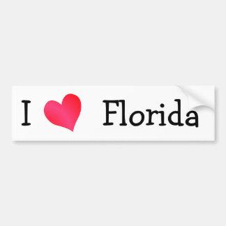 Amo la Florida Pegatina De Parachoque