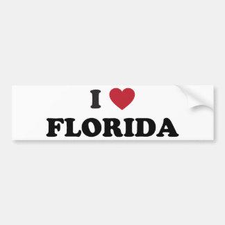 Amo la Florida Pegatina Para Auto