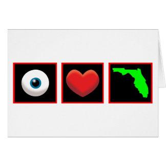 AMO LA FLORIDA TARJETA DE FELICITACIÓN