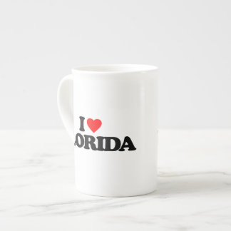 AMO LA FLORIDA TAZA DE PORCELANA
