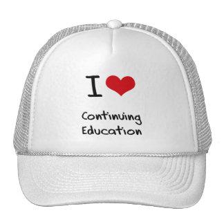 Amo la formación permanente gorras