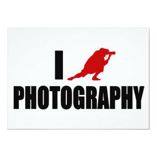 """Amo la fotografía (la versión moderna) invitación 5"""" x 7"""""""