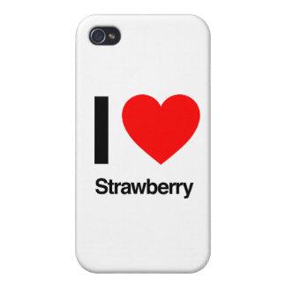 amo la fresa iPhone 4/4S funda