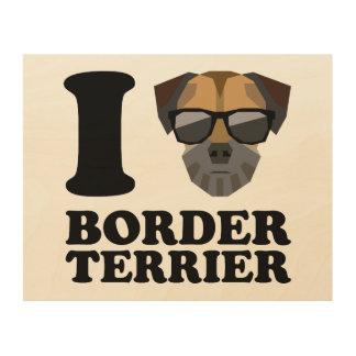 Amo la frontera Terrier -1- Cuadros De Madera