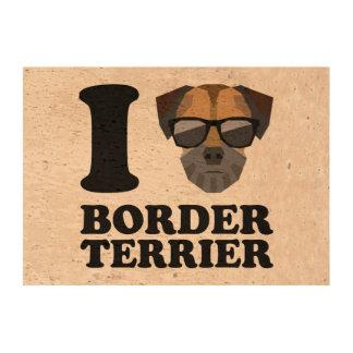 Amo la frontera Terrier -1- Impresiones En Corcho
