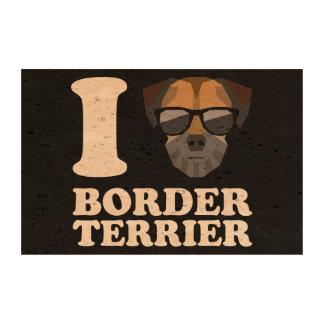 Amo la frontera Terrier -2- Impresiones En Corcho