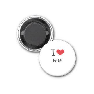 Amo la fruta imanes para frigoríficos