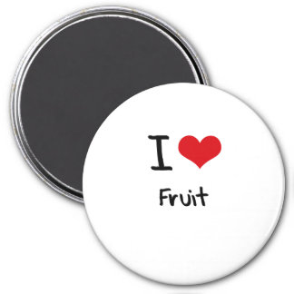 Amo la fruta imán de nevera