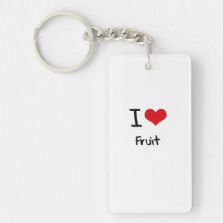 Amo la fruta llaveros