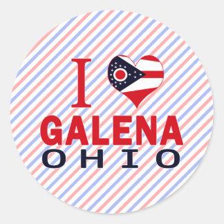 Amo la galena Ohio Pegatinas Redondas