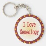 Amo la genealogía llavero
