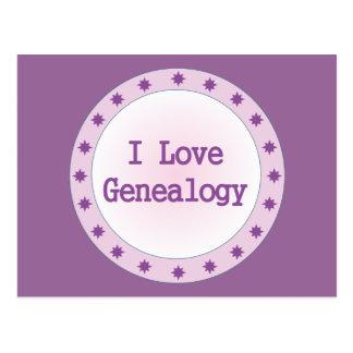 Amo la genealogía tarjeta postal