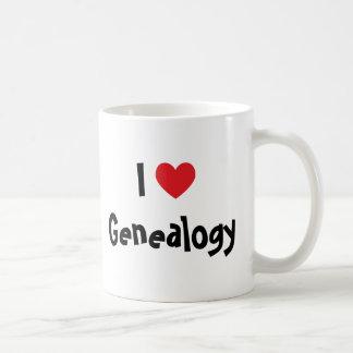 Amo la genealogía taza