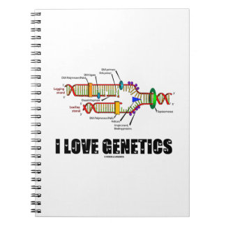 Amo la genética (la réplica de la DNA) Libretas