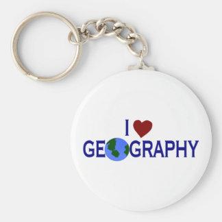 Amo la geografía llavero personalizado