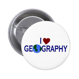 Amo la geografía pin redondo 5 cm