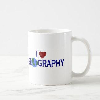 Amo la geografía tazas de café